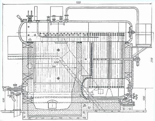Схема котла серии ДКВР